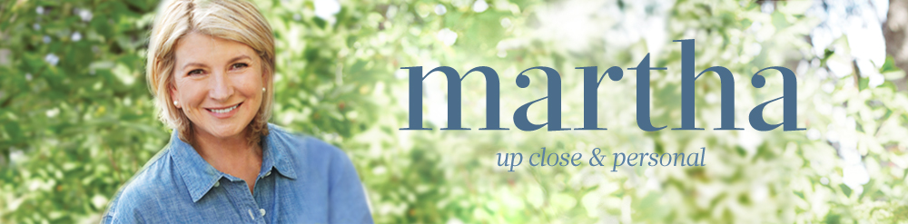 Top banner image. Martha Stewart, up close and personal.